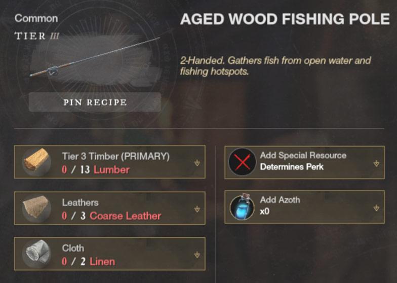 уровень 3 Aged Wood Fishing Pole
