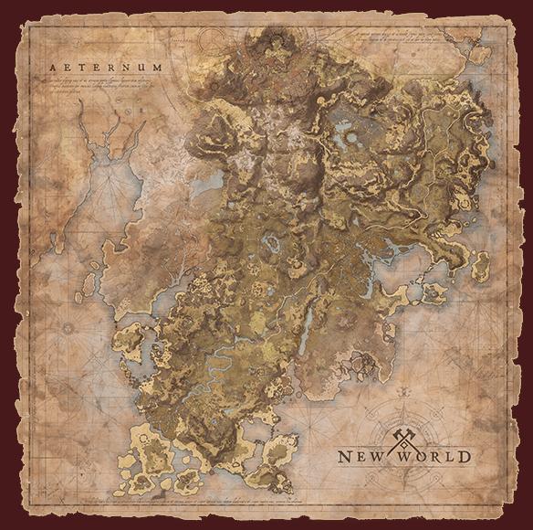 new world карта