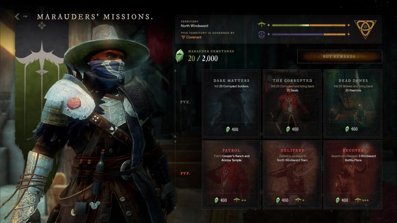 фракции миссии new world