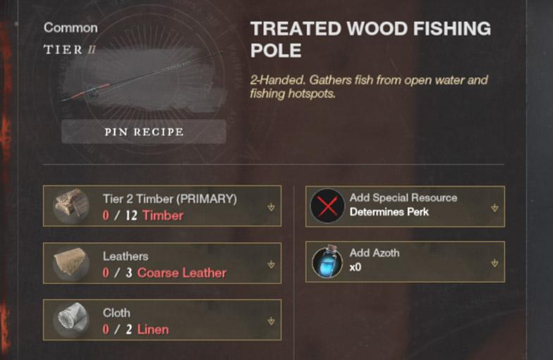 Tier 2 Treated Wood Fishing Pole