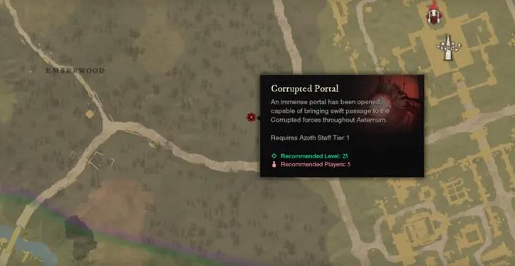 corrupted portal new world