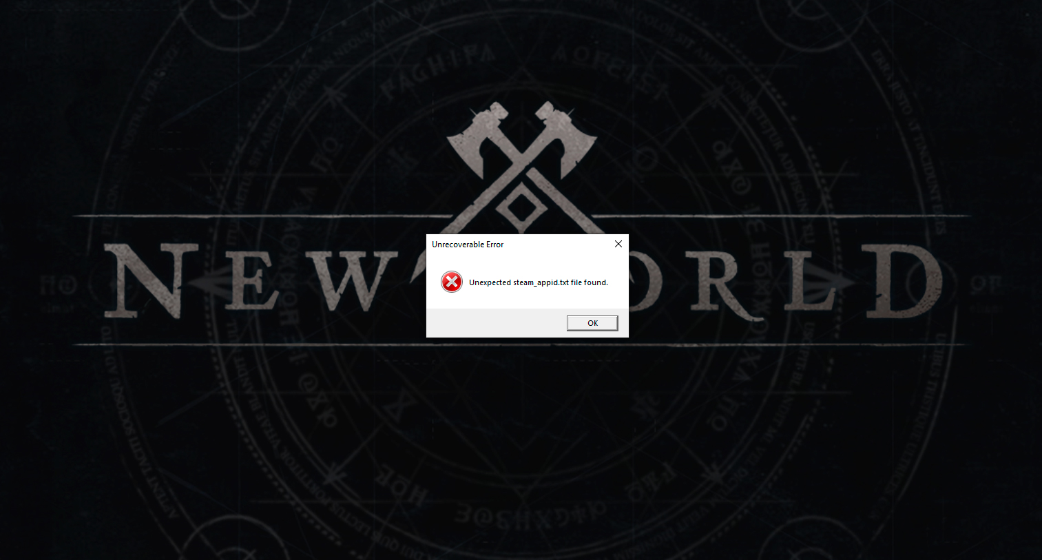 unexpected steam_appid.txt file found