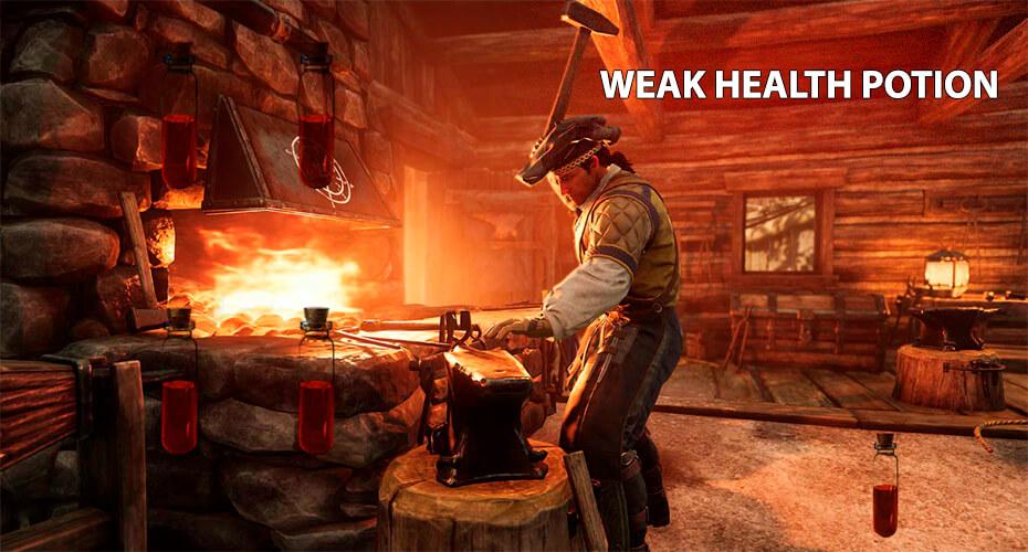 Weak Health Potion зелье здоровья hp крафт new world