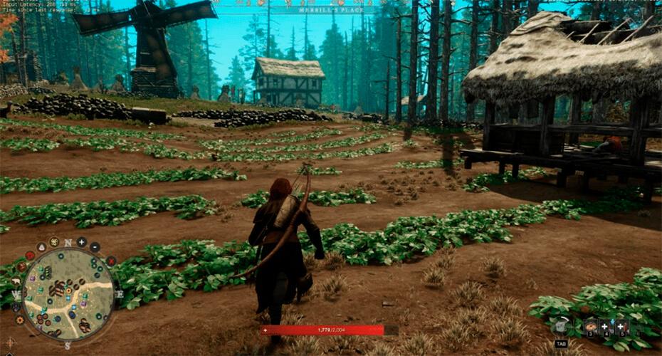 интерактивная мини карта в игре с ресурсами
